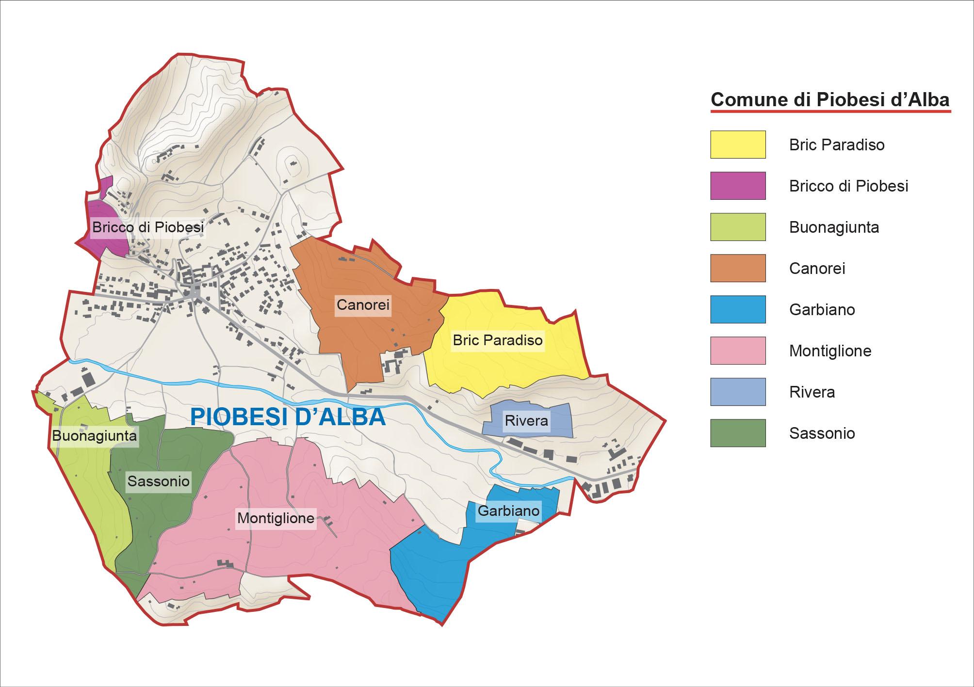 Alba Cartina Geografica.Menzioni Geografiche Aggiuntive Del Roero Docg