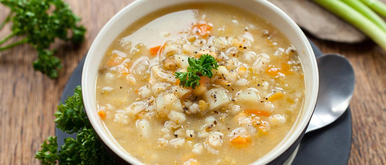 una zuppa di cereali per il roero arneis docg