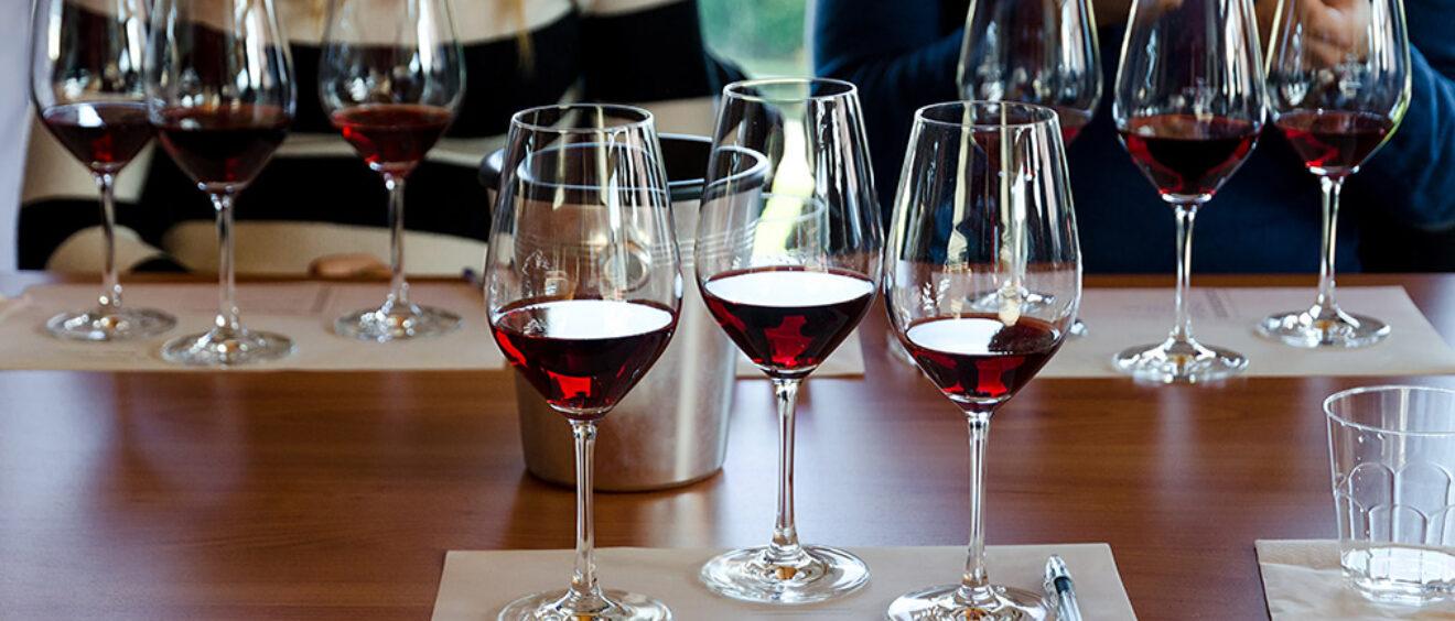 come fare l'esame visivo del vino