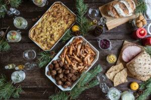 Swedish Christmas sausages / Prinskorv and meatballs.